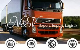 Создание сайта логистической компании N&V Export, Import, Logistik GmbH