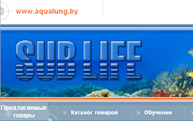 Создание интернет-магазина подводного снаряжения SUBLIFE