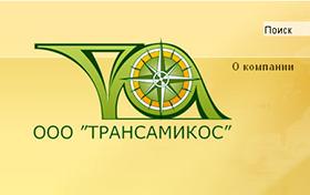 Создание сайта компании Трансамикос